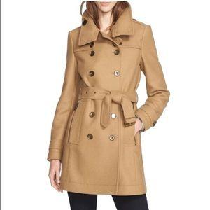 Burberry Daylesmoore Wool Blend Camel Coat